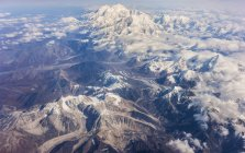 Aerial view of Mount McKinley — Stock Photo