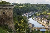 Каменная башня крепости — стоковое фото