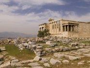 Руїни палацу і каміння — стокове фото