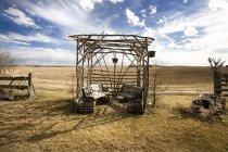 Старый дробленая кабиной — стоковое фото