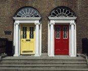 Georgian Door in Dublin — Stock Photo