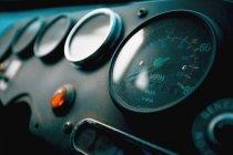 Indicatori sul bus sul pannello — Foto stock