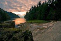 Sun Setting On River — Stock Photo