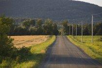 Сільська дорога в горах — стокове фото