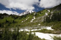 Snow At Base Of Mountain — Stock Photo