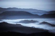 Холмы в тумане — стоковое фото