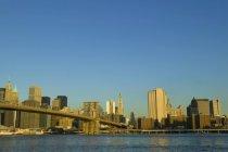 Перегляд Манхеттен Нью-Йорка — стокове фото