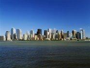 Skyline de Manhattan en Nueva york - foto de stock