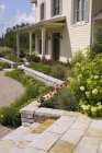 Residential Home And Patio Stones — Stock Photo