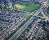 Aerial view of M1 Motorway — Stock Photo