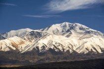 Close-up de uma seção dos Andes cobertas de neve; Tupungato, Mendoza, Argentina — Fotografia de Stock