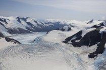 Ghiacciaio Chernof e Mccarty, Harding Ice Field, Kenai Fjords National Park; Alaska, Stati Uniti d'America — Foto stock