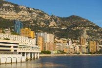Buildings In A Cityscape Along The Mediterranean; Monte Carlo, Monaco — Stock Photo