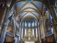 Interior de la Iglesia de Nuestra Señora, una Iglesia Católica Romana en el Distrito del Castillo de Buda; Buda, Budapest, Hungría - foto de stock