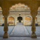 Baradari павильон на Ман Сингх я, Дворцовая площадь, форт Амер; Джайпур, Раджастхан, Индия — стоковое фото