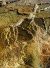 Vista aerea di Mammoth Springs, Parco nazionale di Yellowstone; Wyoming, Stati Uniti d'America — Foto stock