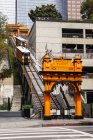 Angels Flight Railway in downtown Los Angeles; Los Angeles, California, United States of America — Stock Photo