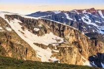 Blick von der Beartooth Highway; Cody, Wyoming, Vereinigte Staaten von Amerika — Stockfoto