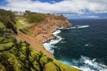 Vista panorâmica da costa perto de Kapaau, costa norte de Kohala, Hawi, ilha do Havaí, Havaí, Estados Unidos da América — Fotografia de Stock