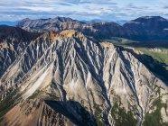 Le montagne del Parco nazionale di Kluane e riserva visto da una prospettiva aerea; Di Haines Junction, Yukon, Canada — Foto stock