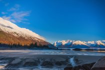 Scenic view of Turnagain Arm on a sunny, winter day, Alaska, United States of America — Stock Photo