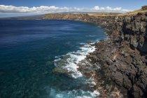 Costa di South Point, noto anche come Ka Lae Nat'l Historic Landmark District, sull'isola delle Hawaii, il punto più meridionale degli Stati Uniti; Kau, Isola delle Hawaii, Hawaii, Stati Uniti d'America — Foto stock