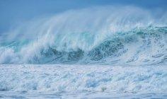 Riesige wellen im meer um oahu; oahu, hawaii, vereinigte staaten von amerika — Stockfoto