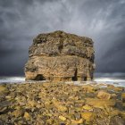 Vista panoramica di Marsden Rock, mare stack al largo della costa nord-orientale dell'Inghilterra, situato a Marsden, South Shields; South Shields, Tyne and Wear, Inghilterra — Foto stock