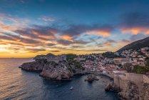 Veduta di Fort Lovrjenac al tramonto; Dubrovnik, Contea di Dubrovnik-Neretva, Croazia — Foto stock