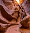 Scenic view of majestic Slot canyon known as Rattlesnake Canyon; Page, Arizona, United States of America — Stock Photo