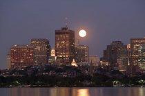 Vista panoramica della bellissima città urbana di Boston, Contea di Suffolk, Massachusetts, USA — Foto stock