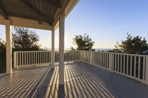 Vacation home deck looking at ocean from Block Island, Rhode Island, USA — Stock Photo