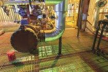 Каустична і кислоти змішування області електростанції — стокове фото