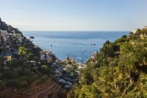 Church of Santa Maria Assunta in Positano along the Amalfi Coast; Positano, Salerno, Italy — Stock Photo