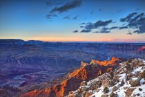 Grand Canyon National Park, South rim at sunset; Arizona, United States of America — Fotografia de Stock