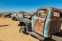 Старые автомобили в Пасьянсе, Национальный парк Намиб-Науклуфт; Намибия — стоковое фото