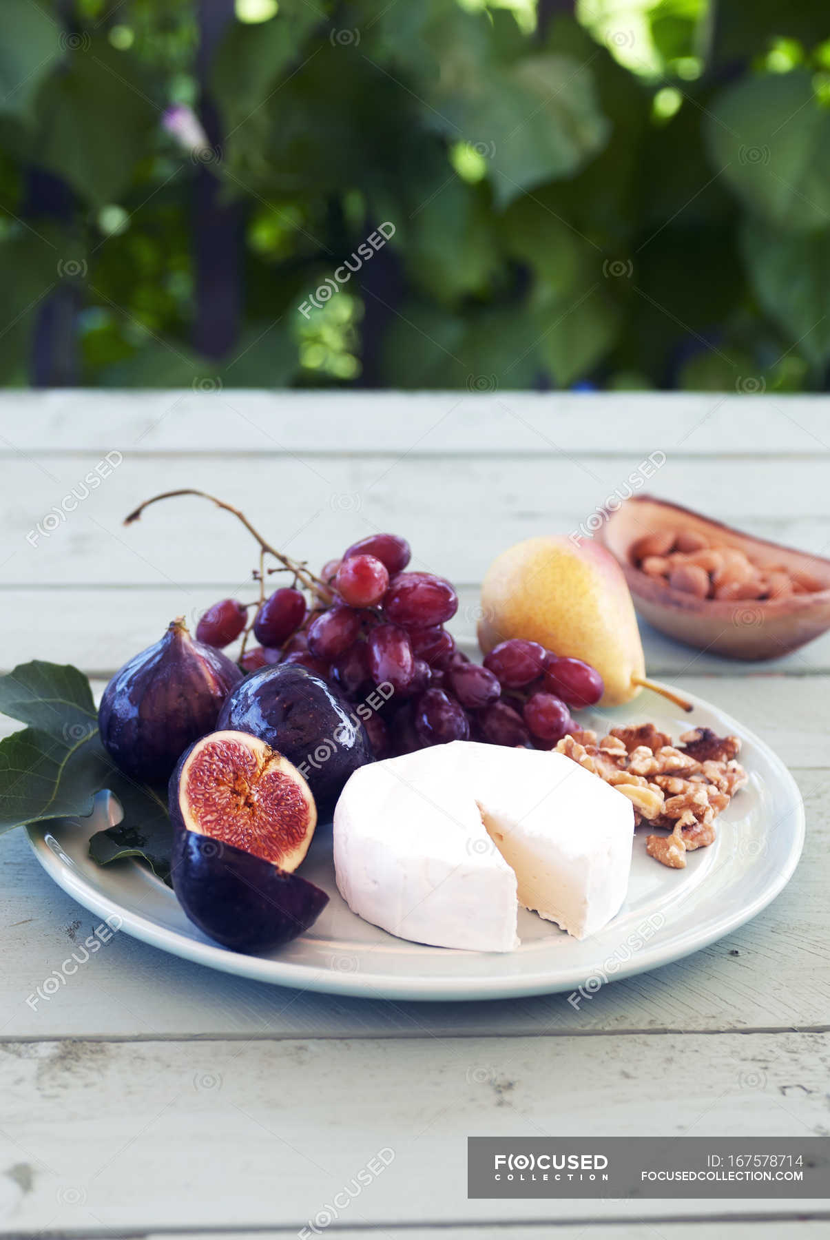 Fruit And Cheese Platter Background Fruits Stock Photo 167578714