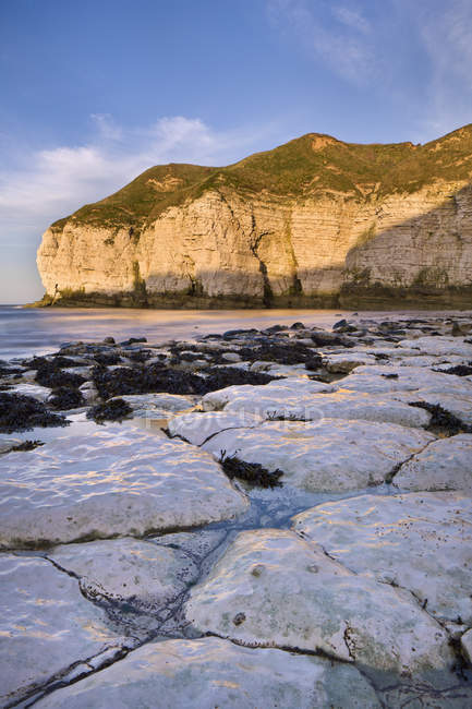 Falaises le long de la côte, east yorkshire — Photo de stock