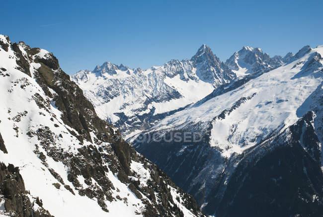 Вид на Французькі Альпи; Шамоні Монблан, Рона alpes Франції — стокове фото