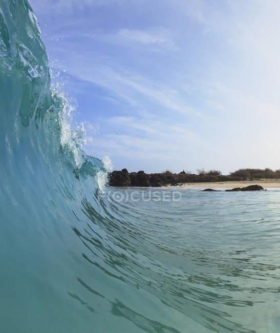 Vague de vue fisheye — Photo de stock