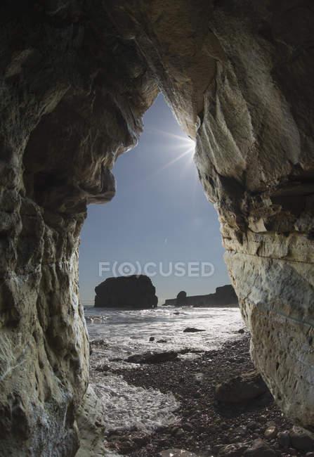 Blick auf Felsformationen — Stockfoto