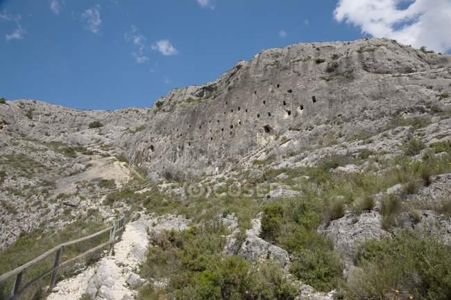 As cavernas dos mouros; Bocairent — Fotografia de Stock