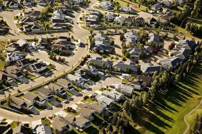 Luftaufnahme der Wohnviertel — Stockfoto