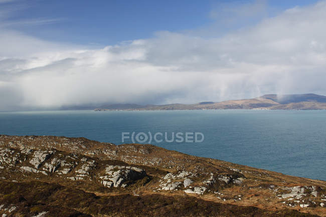 View Of Approaching Rain From Sheep 's Head In West Cork; County Cork, Ireland — стоковое фото