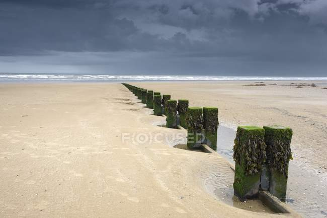 Sandstrand mit Spalten — Stockfoto