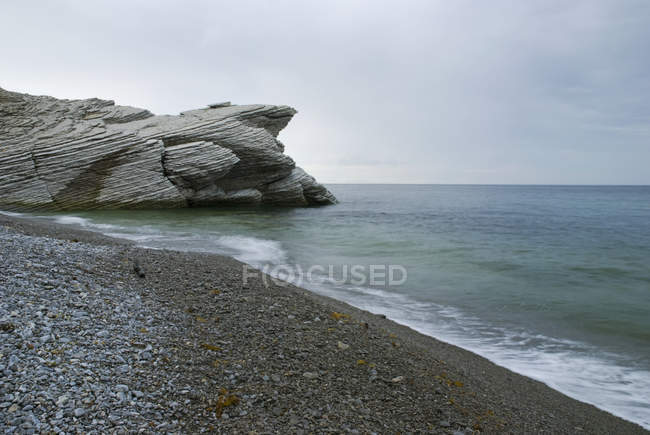 Beach With  Rock Formation — Stock Photo