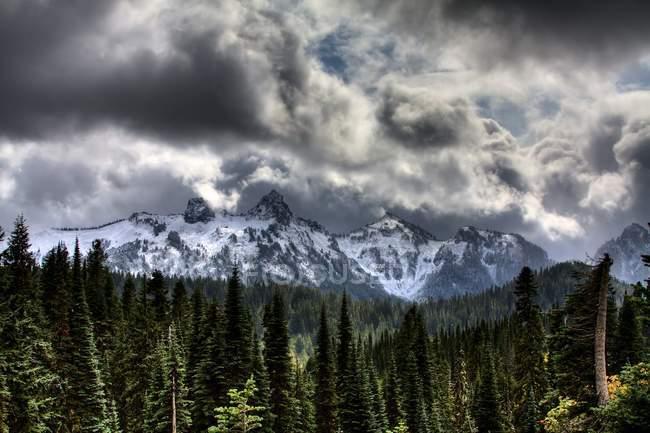 Storm Clouds, Mount Rainier — Stock Photo