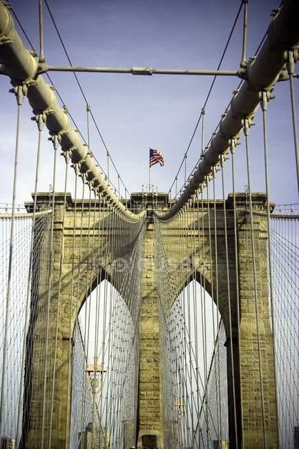 Puente de Brooklyn, Manhattan - foto de stock