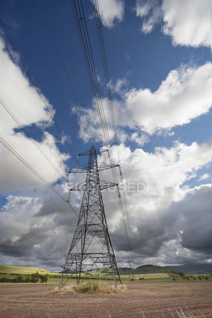 Power Lines And Tower — Stock Photo