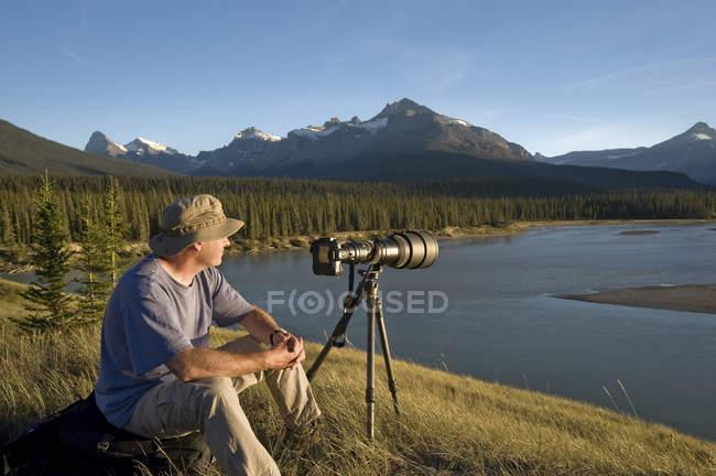 Fotografo gode di vista — Foto stock